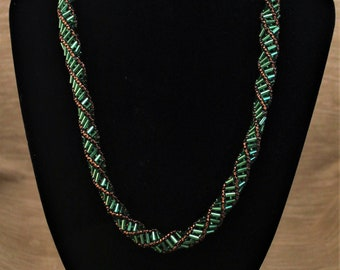 Green Russian Spiral Necklace
