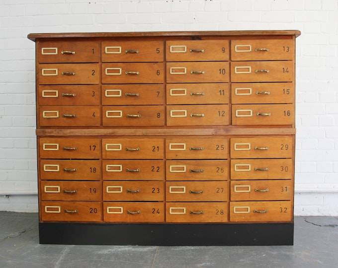 Large Bank Of German School Drawers Circa 1950s