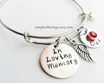 Memorial Bracelet, In Memory of Dad, Mom, Husband, Son, Remembrance Jewelry, Memorial Jewelry, Sympathy Gift, Personalize bracelet, Memory