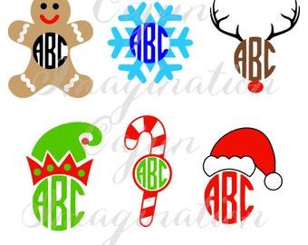 Christmas Monogram Frame SVG