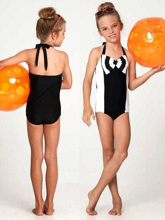 Retro swimsuit pattern girls swimwear pattern leotard sewing