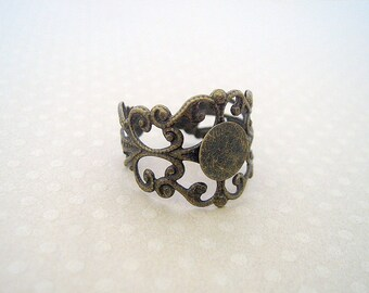 Bronze Adjustable ring with 8 mm - ABBC 9957 holder