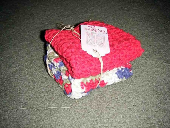 Cotton dishcloths- Go Natural-Made to order