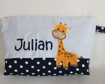 Diaper bag giraffe with wish name