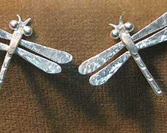 Sterling Dragonfly Earrings on posts