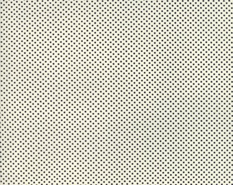 Moda Essentially Dots White with Black Polka Dot Fabric 8655-125 BTY