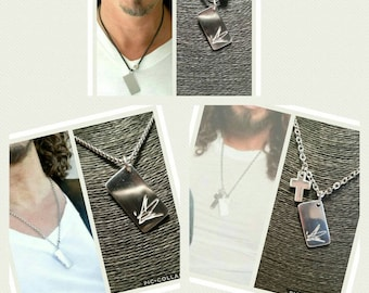 Rectangular necklace Chris Cornell in pure silver