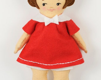 Easy Felt Doll pdf Pattern – Betsy - Instant Download