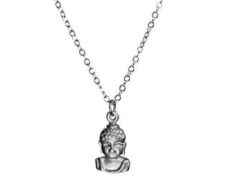 Dainty Buddha Silver Necklace