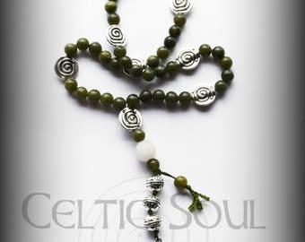 Goddess Brighid Prayer Beads with Jade