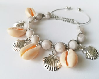 Shamballa bracelet, woman bracelet, adjustable bracelet, summer bracelet, natural stone, agate, macrame