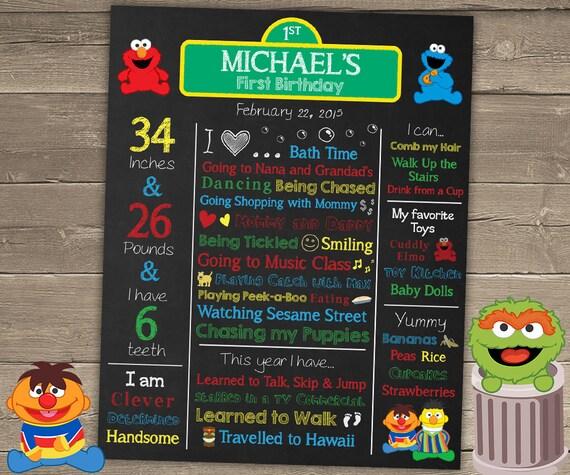 Sesame Street Birthday Poster Sesame Street Birthday