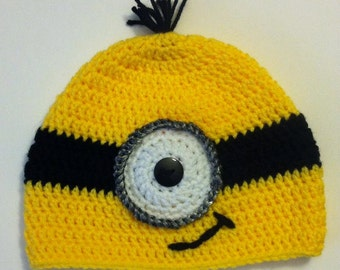 Minion Hat - choose size - made to order