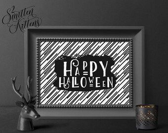 Happy Halloween Printable Halloween Art, Halloween Printable Decor, Happy Halloween Art, Halloween Printable Sign, Halloween Decor, PATTERN