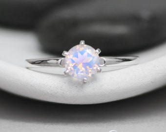 Vintage-Style Bridal Ring - Sterling Silver Lavender Quartz Gemstone Engagement Ring - Solitaire Wedding Ring - Alternative Engagement Ring