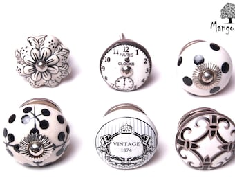 Set of 6 Travel Themed Cupboard Door Knobs suitable for chest