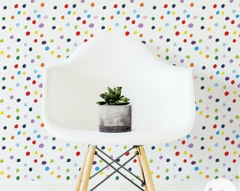 Multicolor Dots Wall Mural / Traditional or removable wallpaper L008