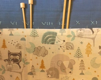 Forest Nap Knitting Needle Case
