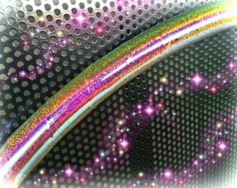 "Sunset  Galaxy Glitter HDPE Polypro Performance Dance & Exercise Hula Hoop - color changing 5/8"" 3/4"""