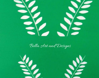 List 1 - Assorted Leaf stencils (price is per photo/design) *Free gift with every order*