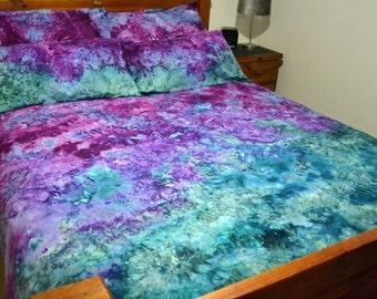 "Ice Tie Dye Bed Quilt Cover Set ""Michelle"" 100% Cotton"