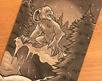 Cryptid Inktober 2017 Illustration - Yeti