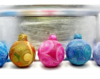 Coiled Clay Filigree Christmas Ornaments ORN0020-15