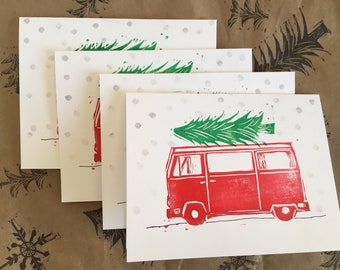 Updated! Set of 4 - Christmas VW Pack