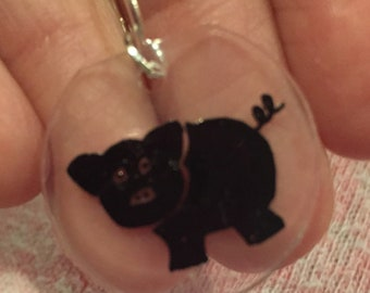 Pig Stitch Markers for Knitters and Crochet, Gift, Notion, Pattern Helper