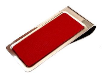 Red Leather Money Clip - by UNEARTHED