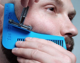 The Beard Bro- Complete Beard Shaping Tool BLUE