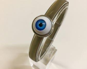 Blue Eyeball Bracelet / Evil Eye jewellery / evil eye Valentines day gift / blue eye wristband/ eyeball jewelry Gift