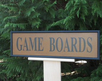 Game Boards, Sign, Wood, Hand Painted, Primitive, Folk Art, Game Board