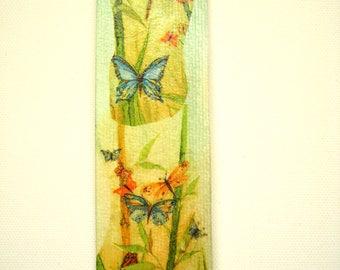 Bookmark handmade butterflies collages.
