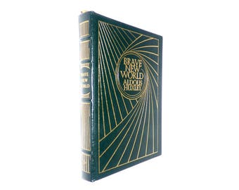 Aldous Huxley Brave New World Illustrated by Mara MacAfee Leather Fine Binding Easton Press Collectors Edition Mint Dystopian Novel