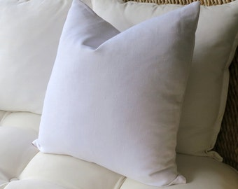 White Linen Pillow Cover, Solid Pillow Cover, Euro Sham, Pillow Sham, Modern Pillow, 18 x 18,  20 x 20, 22 x 22, 23 x 23, 24 x 24, 26 x 26