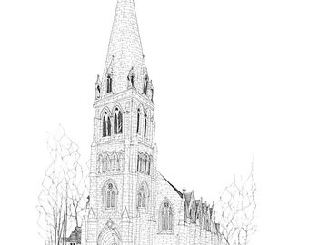 Cottiers Theatre Glasgow Signed Giclee Print A5/A4