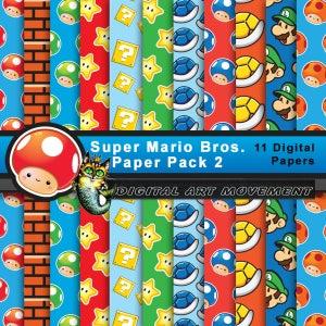 Super Mario Seamless Patterns,Super Mario Digital Gaming,Super Mario Arcade Gift Wrap,Mario Scrapbook,Super Mario Blog,Super Mario Wallpaper