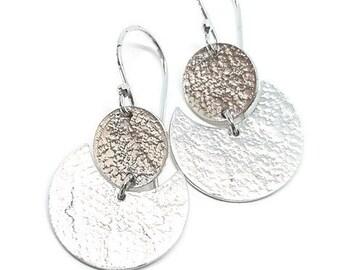 Moon dangle earrings