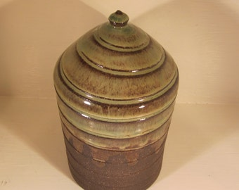 Custom Cremation Urn - Stoneware Cremains Jar - FALLOW