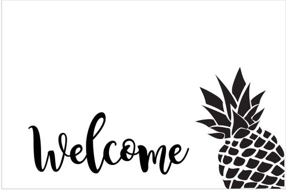 Custom Pineapple Doormat for Taryn