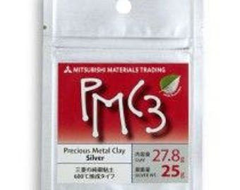 PMC3-7g-16g-25g-Precious Metal Clay-PMC-Jewelry Supplies-Silver clay