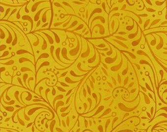 Four Seasons Autumn Collection Gold Vine WZ6555 from In The Beginning by the yard