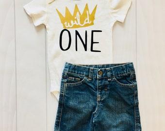Wild One | Boy's First Birthday | Bodysuit | Custom | Boys Clothing