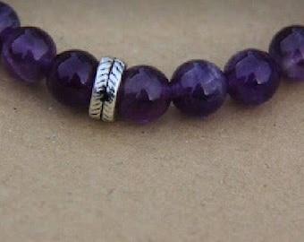Amythest stretch bracelet