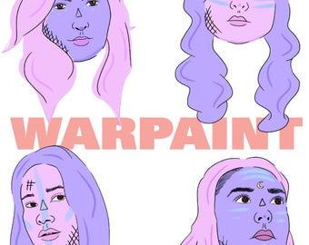 Warpaint - 5x7 original illustration
