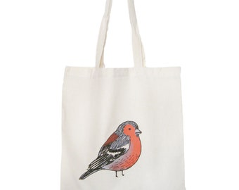 Eco Bird Bag Chaffinch Reusable Shopping Cotton Tote