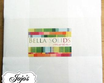 Bella Solids Layer Cake White by Moda Fabrics SKU 9900LC 98