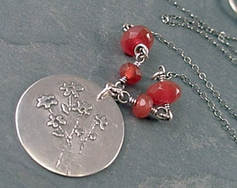 Bexley Necklace - Carnelian and Sterling Silver
