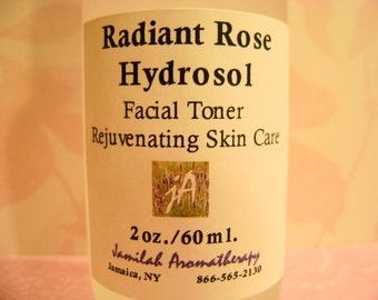 Rose Otto Radiant Hydrosol | Facial Toner | Skin Moisturizing | Rejuvenating | Fragrant Body Spray | Rose Skin Treat | 100% Organic Hydrosol